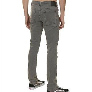 VANS V76 Skinny Jeans Medium Gray Wash